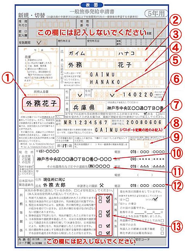 一般 旅券 発給 申請 書 福岡